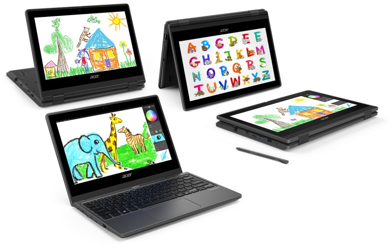 Konvertibilný notebook Acer TravelMate Spin B3