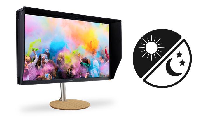 Profesionálny monitor Acer ConceptD CP7 svetelný snímač