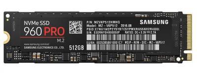 Samsung SSD M.2 512GB 960 PRO NVMe