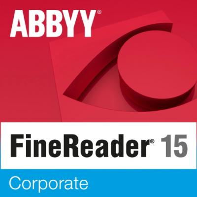 ABBYY FineReader 15 Corporate Single User License (ESD) 12 mesiacov 51 - 100 licencií